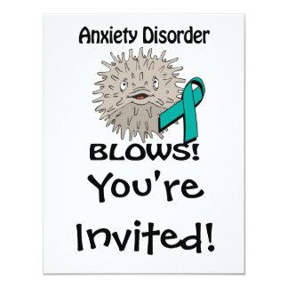Anxiety Disorder Blows Awareness Design Card