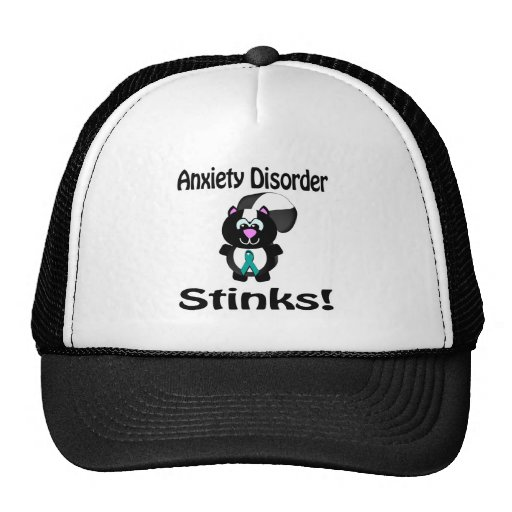 Anxiety Disorder Stinks Skunk Awareness Design Trucker Hat