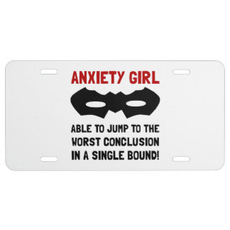 Anxiety Girl License Plate
