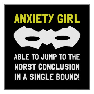 Anxiety Girl Poster