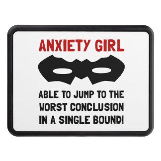 Anxiety Girl Tow Hitch Cover