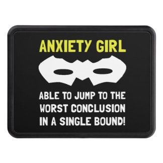 Anxiety Girl Trailer Hitch Cover