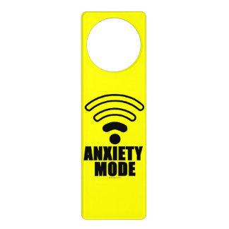 Anxiety mode door hanger