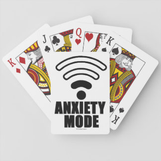 Anxiety mode playing cards