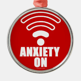 Anxiety on metal ornament