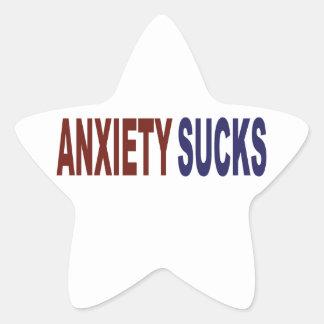 Anxiety Sucks Star Sticker