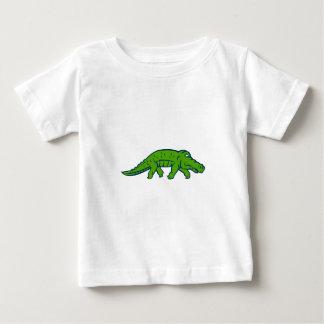 Anxious Alligator Tiptoing Retro Baby T-Shirt