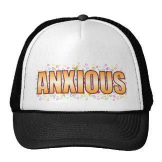 Anxious Bubble Tag Trucker Hat
