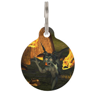 Anxious pixie running pet ID tag