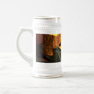 Anxious pixie running mugs