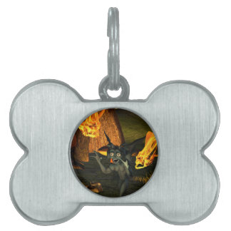 Anxious pixie running pet tag