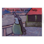 ANXIOUS TIMES FISHERWIVES WAITING, Thank you Greeting Card