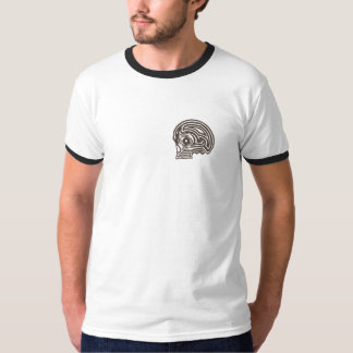 Anxious Tribal Skull by KLM T-Shirt