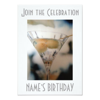 """ANY ADULT BIRTHDAY PARTY INVITATION 5"""" X 7"""" INVITATION CARD"""