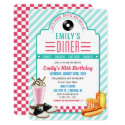 ANY AGE - 1950's Retro Diner Birthday Invitation