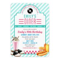 ANY AGE - 1950's Retro Diner Birthday Invitation