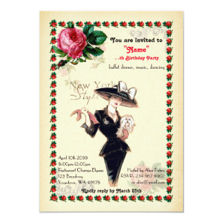 any age,60th,Birthday Party woman,Gatsby, Art-Deco Card