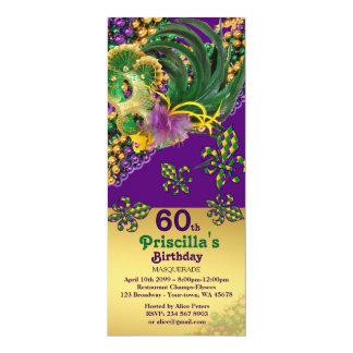 any age, 60th, Invitation Ticket Birthday Woman