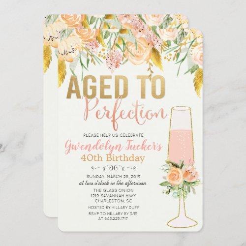 ANY AGE _ Aged to Perfection Birthday Invitation