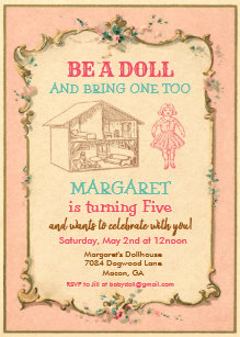 Baby Doll Invitations