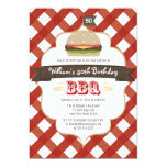 ANY AGE BBQ BIRTHDAY PARTY 5X7 PAPER INVITATION CARD