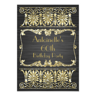 Any Age Birthday Art Deco Greek Arabesque Card
