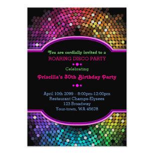 Disco Party Invitations Zazzle