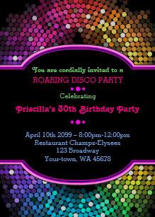 Any Age Birthday Invitation Party Gatsby Disco