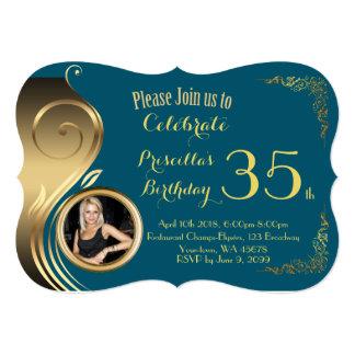 any age,Birthday Invitation PHOTO,Gatsby style