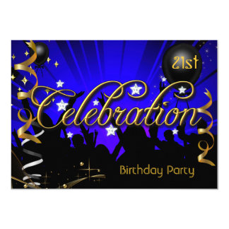 Any Age Birthday Party Celebration Teens or Adults 4.5x6.25 Paper Invitation Card