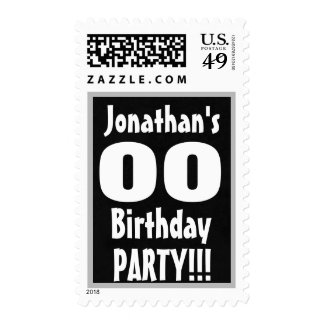 Any Age Birthday Party Stamp Custom Name Year V01A
