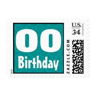 Any Age Birthday Party Stamp Custom Name Year V11