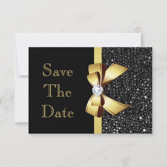 any age birthday save the date black and gold zazzle com