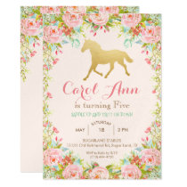 ANY AGE/EVENT - Horse Floral Invitation
