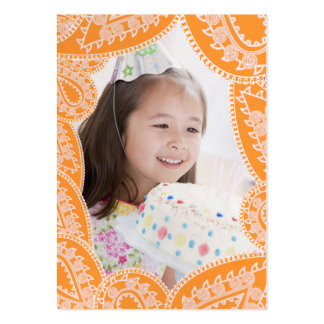 Any Age  Girls Birthday Photo Cards Large Business Card