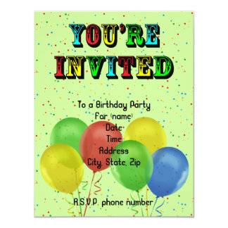 Any Age Party Personalized Invitations