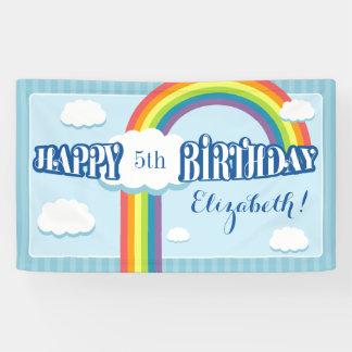 Any Age Rainbow Cloud Birthday Banner