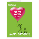 Any Age/Relation/Occasion Stick Figure Kid Boy Greeting Cards