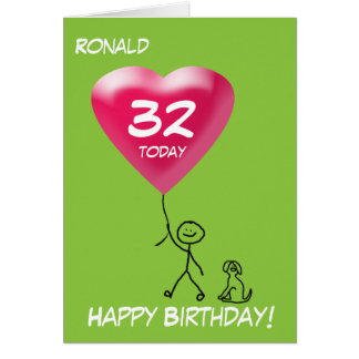 Any Age/Relation/Occasion Stick Figure Kid Boy Card