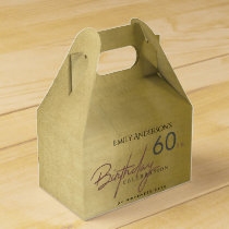 ANY AGE SIMPLE ELEGANT GOLD TYPOGRAPHY BIRTHDAY FAVOR BOX