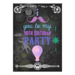 ANY AGE Steampunk Chalkboard Birthday Party Invite