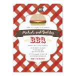 ANY AGE SURPRISE BBQ BIRTHDAY PARTY 5X7 PAPER INVITATION CARD