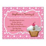 Any Age, Swell Sweet Cupcake Birthday Invitations
