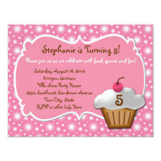 Any Age, Swell Sweet Cupcake Birthday Invitations
