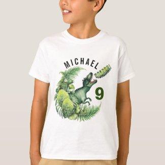 ANY AGE T-Rex Dinosaur Boy's Birthday T-Shirt