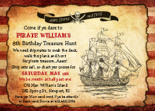 Pirate birthday invitations zazzle any age vintage pirate birthday party invitation filmwisefo