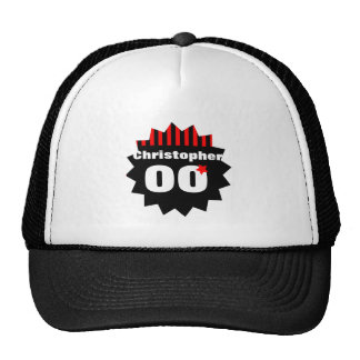 Any Birthday Year Red Black Stripes with Star S05Z Trucker Hat