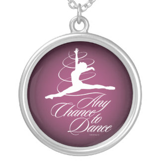 Any Chance To Dance Silver Plated Necklace