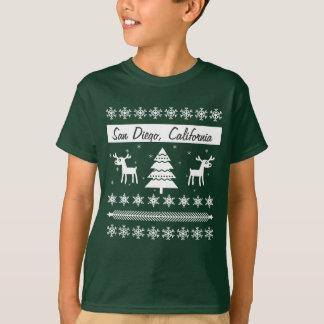 Any City Name Ugly Christmas Sweater Reindeer