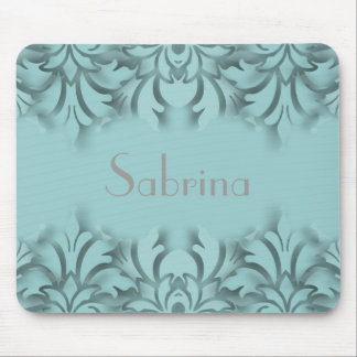 Any Color Background 3D Look Damask Border Mouse Pad
